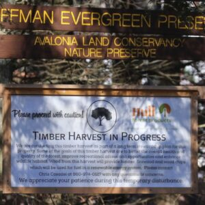 Signs Have Been Posted And Trails Closed On The Hoffman Evergreen Preserve Until The Harvest Is Done. (Photo Beth Sullivan)